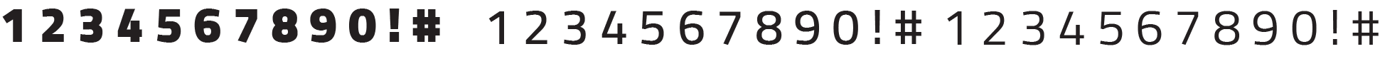 pcoc font numbers